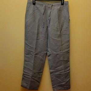 Cubavera Gray Linen Blend Pant